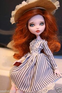 American 1565 theme doll/Monster  high doll repaint