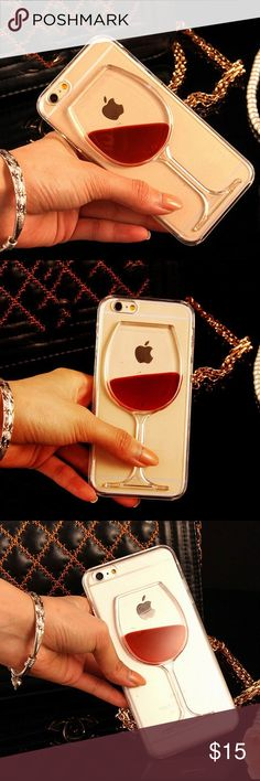 Wine Glass IPhone Case  Available sizes are iPhone 5, 5s, 6, 6s, 7, 7 Plus. Brand new. No trades. Offers welcomed. Please select what color when purchasing. Accessories Phone Cases