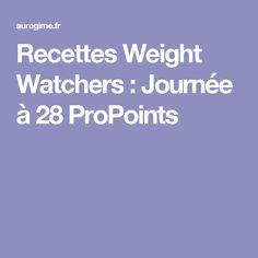 Recettes Weight Watchers : Journée à 28 ProPoints
