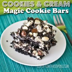 Cookies & Cream Magic Cookie Bars.  It's like happiness on a plate.