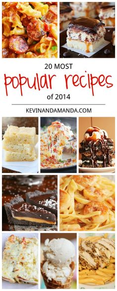 Tried and true favorites! The Top 20 Most Popular Recipes of 2014. so many good ones I will have to make them all!