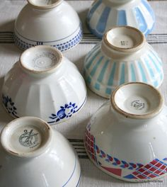 beautiful French bowls......Sunday Brocantes...
