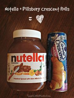 Sweet Little Bluebird: Easy Peasy Nutella Crescent Rolls Dessert - Only 3 Ingredients