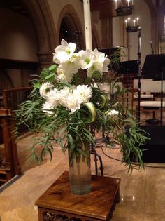 Lectern flowers All Saints Day 2014