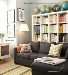 Comfy couch for the main library room. Should be in a neutral color with doesn't show stains or dirt - gray, taupe, brown