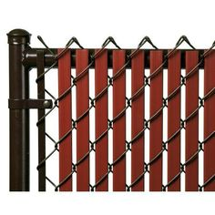 Redwood 7ft Tube Slat for Chain Link Fence, Red