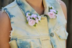 Use faux flowers to give your denim an instant makeover.