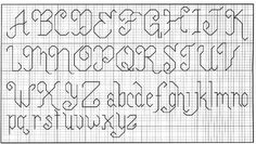 Punto lineal Cross Stitch Letters, Alphabet And Numbers, Diy Projects To Try, Blackwork, Cross Stitch Embroidery, Hand Stitching, Stitch Patterns, Sewing Crafts, Lettering