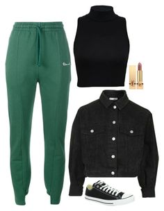 Selena Gomez Inspired Outfit by daniellakresovic on Polyvore featuring polyvore fashion style Vetements Converse Yves Saint Laurent clothing