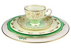 Blended Green & Cream Dinnerware