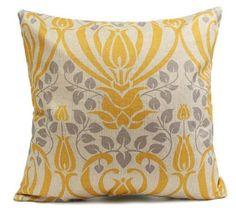 Vintage cotton linen touch pillow case
