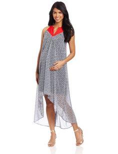 b9ec8c786dc85 Amazon.com: Maternal America Women's Maternity Asymmetrical Hem Maxi Dress: Clothing  Maternity Wear