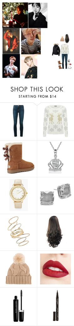 """""""❄Christmas With Jimin❄"""" by tkyle134 ❤ liked on Polyvore featuring beauty, Frame, M&Co, UGG, Chico's, Kate Spade, BP., Loro Piana, Jouer and Marc Jacobs"""