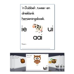 Dubbelklank, Tweeklank, Drieklank Classroom Activities, Activities For Kids, Afrikaans Language, Prep School, School Readiness, Kids Education, Child Development, Kids Learning, Kindergarten