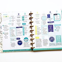 color-coded August FUN in the 'Be Bright' Happy Planner™ of mambi Design Team member April Orr   me & my BIG ideas