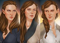 Archeron Sisters by Merwild  Nesta, Feyre and Elain from A Court of Thorns and Roses by Sarah J. Maas
