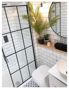 Modern Shower, Modern Bathroom, Small Bathroom, Bathroom Showers, Diy Bathroom Remodel, Bathroom Renovations, Seaside Bathroom, Garden Bathroom, Crittall