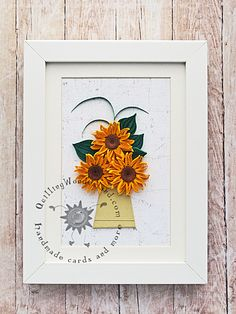 Quilled Mini Sunflowers Picture