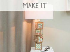 crer une lampe avec des cubes de bois