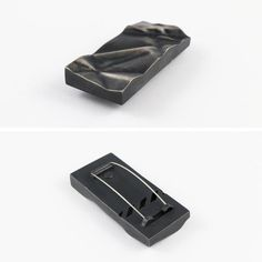 """""""Fragment Brooch"""" by Alison Jackson. 2014. Sterling silver, oxidised, stainless steel Inspired by the large scale sculptures of Dan Lorrimer"""