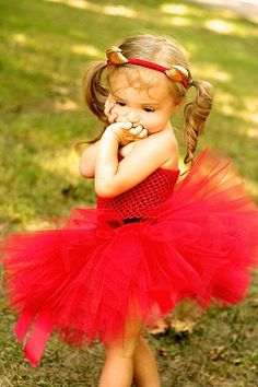 Cute Little Devil Tutu & Headband- Perfect for dress-up or as a costume.....this goes perfectly with all of my girls' personalities!!!