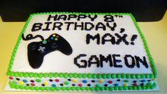 27 Best Image of Xbox Birthday Cake . Xbox Birthday Cake Gamer Birthday Sheet Cake With Xbox Controller Video Game Birthday Birthday Sheet Cakes, 10th Birthday Parties, Happy Birthday Cakes, Cake Birthday, 13th Birthday, Birthday Ideas, Playstation Cake, Xbox Cake, Xbox Party