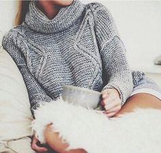 Cozy sweater & coffee