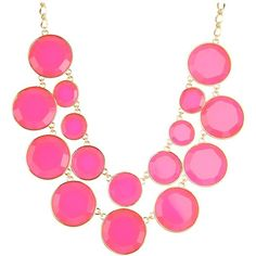 Kate Spade New York Baublebox Bib Necklace (4,675 MXN) ❤ liked on Polyvore featuring jewelry, necklaces, accessories, pink, collane, women, chain bib necklace, pendants & necklaces, kate spade necklace and bauble necklace