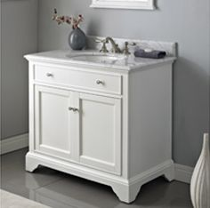 Photo Image Fairmont Designs Framingham to Bathroom Vanity Polar White White Carrera Marble
