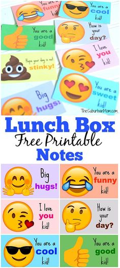 Send your kids back to school with emoji lunch box notes. It is an easy way to pack a smile. Who would not want to find an emoji in their lunchbox?!