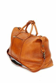 Hemingway Butter Leather Weekender
