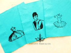 Tiffany and Co inspired party napkins- Bridal shower-Engagement party-Birthday Tiffany Party, Tiffany And Co, Tiffany Blue, 13th Birthday Parties, 50th Party, Birthday Bash, Birthday Ideas, Party Napkins, Napkins Set