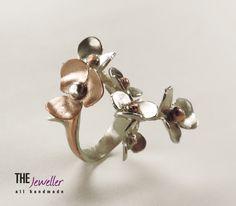 LE PRINTEMPS - sterling silver & copper. Designer and manufacturer: Georgeta David. Made in Romania.