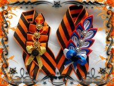 Одноклассники Kanzashi, How To Make Bows, Corsage, Irene, Hair Bows, Diy And Crafts, Anna, Deko, Hair Ties