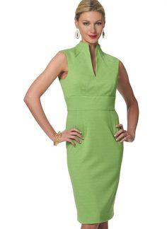 V8633 | Misses' Funnel-Neck Dresses Sewing Pattern | Vogue Patterns