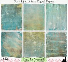 Instant Download Distressed Brown Gold Turquoise by JustBYourself, $3.00 (1822)