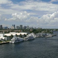 Fort Lauderdale from the SE 17Th St Drawbridge. ♥Home~sweet home♥