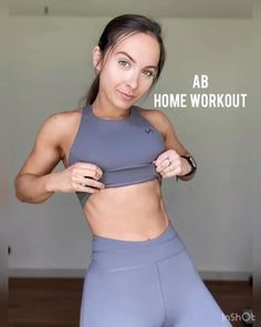 Fitness Workout For Women, Yoga Fitness, Fitness Tips, Health Fitness, Gym Workout Videos, At Home Workout Plan, At Home Workouts, Ab Workouts, Sixpack Training