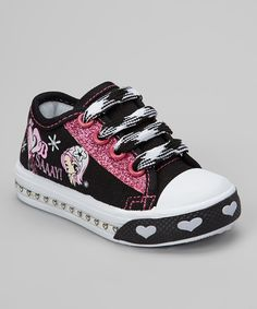 Take a look at this Ositos Shoes Black 'Saaay!' Light-Up Sneaker on zulily today!