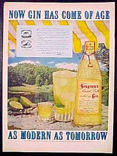 Vintage Ad - 1951 -  Seagram's Gin