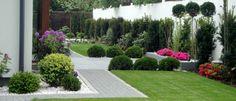 Ogród geometryczny - Tajemniczy Ogród Garden Makeover, Modern Garden Design, Plan Design, Garden Beds, Garden Inspiration, Interior And Exterior, Architecture Design, Sidewalk, Landscape