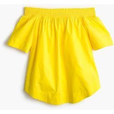 Shop J.Crew for the Petite cotton off-the-shoulder top for Women. Find the best selection of Women Shirts & Tops available in-stores and online. Yellow Off Shoulder Top, Off Shoulder Shirt, Off Shoulder Tops, Shoulder Dress, J Crew Tops, Yellow Shirts, Petite Tops, Blouses For Women, Clothes