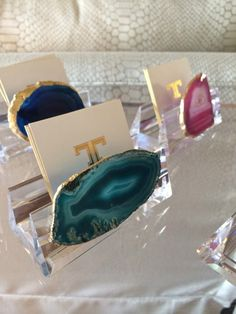 shop | ten | 25 acrylic and agate business card holders