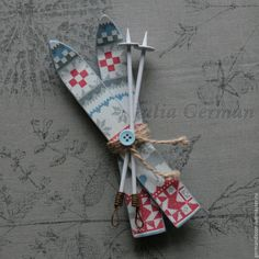 Valentina_iv - hand made, РјРѕРґР°, РєСѓР Christmas Wood, Christmas Baby, Diy Christmas Gifts, Handmade Christmas, Holiday Crafts, Vintage Christmas, Christmas Decorations, Christmas Ornaments, Popsicle Stick Christmas Crafts