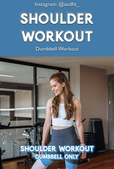 Give this shoulder workout a shot. Varying your shoulder workouts will make training more enjoyable. This shoulder exercise is great for toning and strengthening shoulders. Upper Body Cardio, Upper Body Workout For Women, Weight Training Workouts, Gym Workouts, Workout Routines, Workout Plans, Dumbbell Shoulder, Shoulder Workout, Weight Excercises For Women