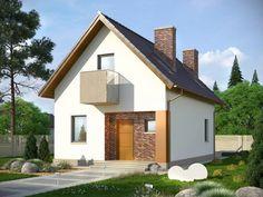 TAROT 2 - projekt małego domku z ciepłym wnętrzem z kominkiem. Studio Krajobrazy. Tarot, Small House Design, My House, Shed, Outdoor Structures, Mansions, House Styles, Home Decor, Planes