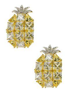 Multicolor CZ Pineapple Earrings on HauteLook
