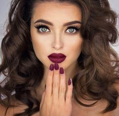 Makeup lip color eyes