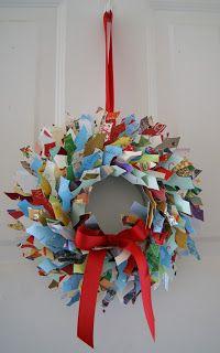 Crafty Sy: Christmas Card Wreath