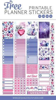 Free printable planner stickers - Feb 7 The Joy of Creative Planning – Free printable planner stickers Planner Stickers Free, Free Planner, Printable Planner Stickers, Journal Stickers, Planner Pages, Free Stickers, Free Printables, To Do Planner, Mini Happy Planner